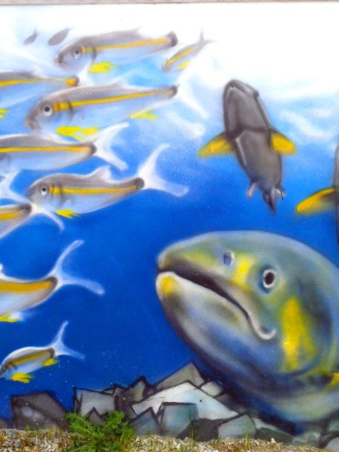 Fresque décoration à Port-Launay
