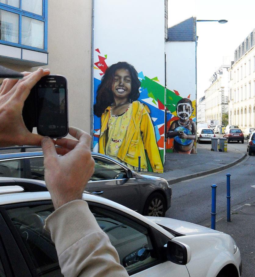 Portraits graffiti à Quimper. Septembre 2015