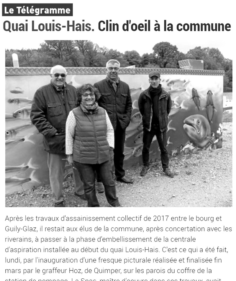 Article de presse Décoration mobilier urbain à Port Launay (29)