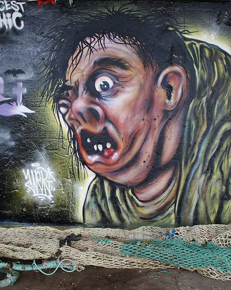 Fresque Graffiti Halloween Saint Brieuc 2014