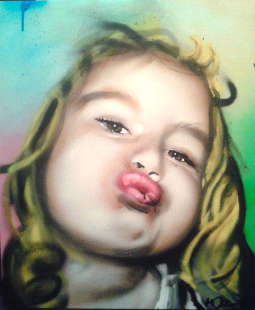Portrait aérosol sur toile (13) : Duck_Face