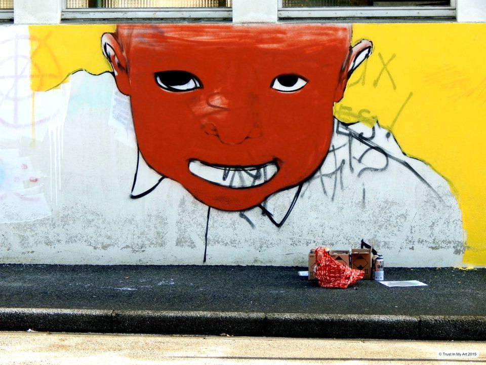 Portrait Graffiti Par HOZ Mars 2015