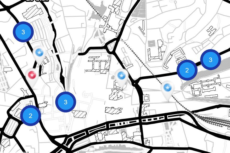 Carte interactive street-art Quimper Finistère