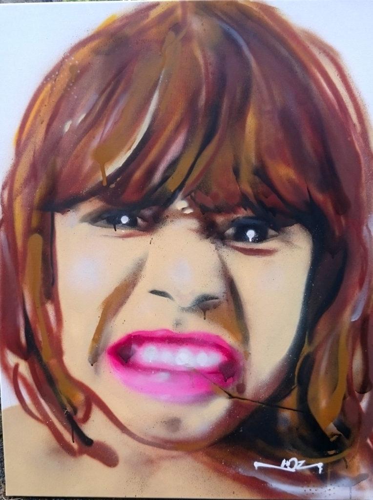 Portrait aérosol sur toile (14) : crazy Alice