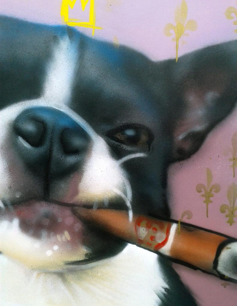 Portrait aérosol sur toile (6) : French Bulldog.