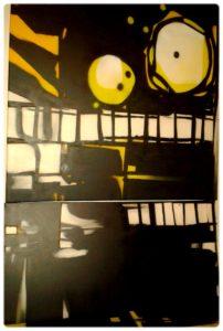 Portraits aérosol sur toile (5) : Warlock.