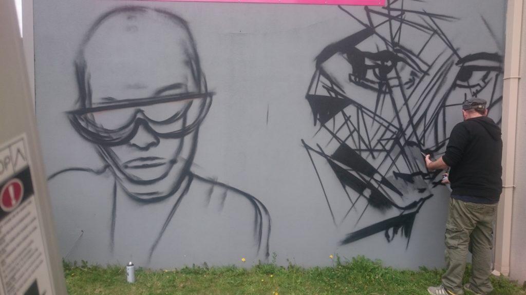 Décoration graffiti Pont-l'Abbé 2
