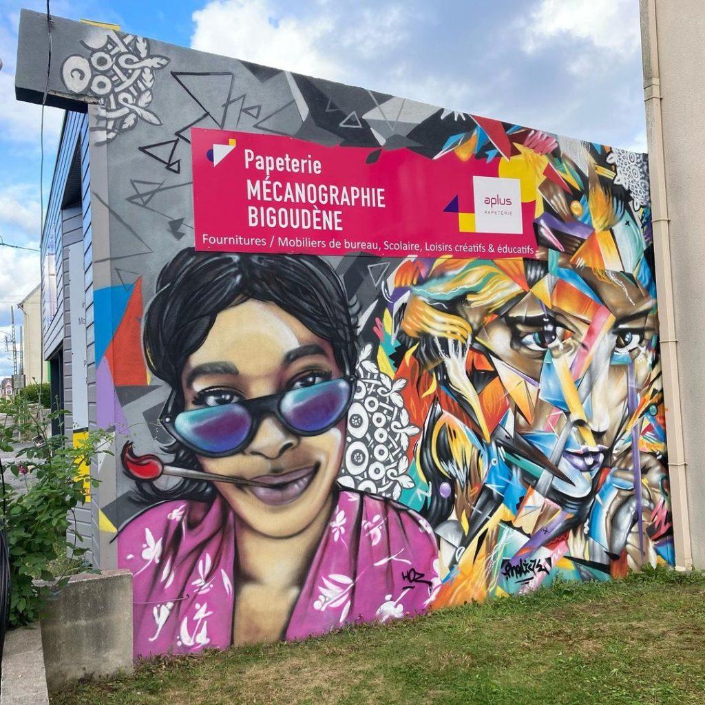 Décoration graffiti Pont-l'Abbé 11